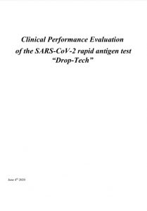 Clinical performance evaluation of rapid antigen testing