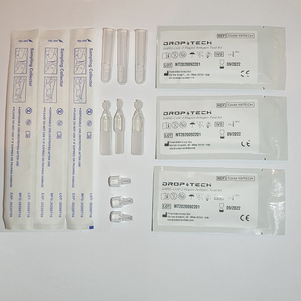 COVID-19 Rapid Antigen Test DropTech Pack of three
